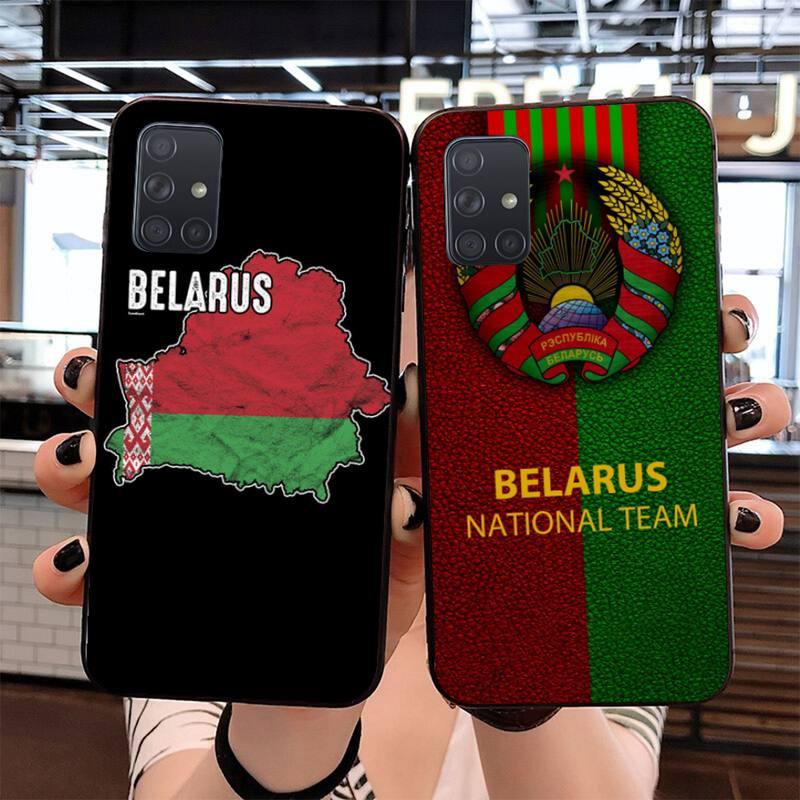 HPCHCJHM Bandera de Bielorrusia DIY impresión de la caja del teléfono Shell para Samsung S20 plus Ultra S7 S6 edge S8 S9 plus S10 5G lite 2020
