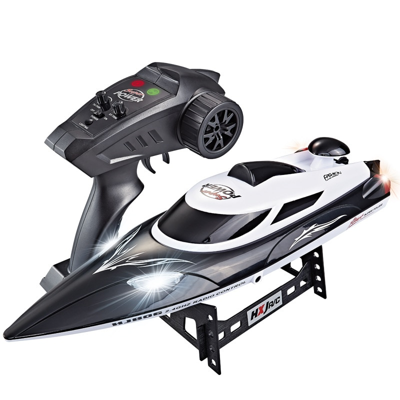2021 NEW HJ806 RC Boat 2.4G Remote Control Rechargeable Waterproof With Night Light Toys Model Gift For Children Boys enlarge