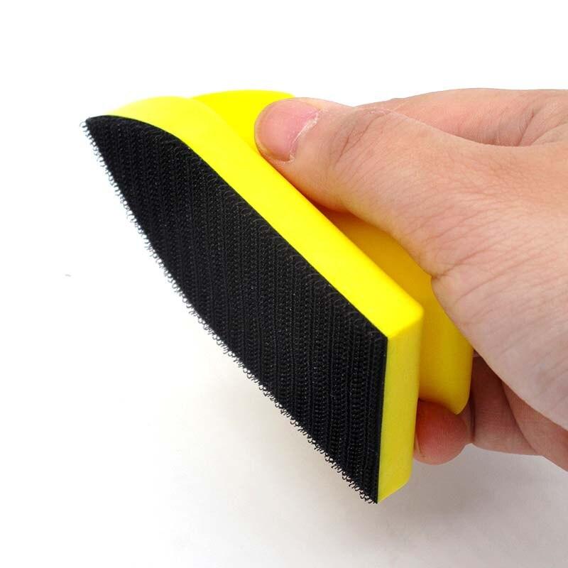 Gros bloc de ponçage à la main crochet et boucle ponceuse disque de ponçage support de papier de verre polissage toos 100mm * 50mm