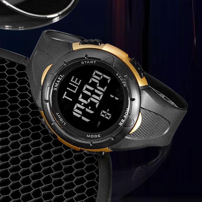 Relógio masculino esporte 5bar relógio de pulso digital à prova dwaterproof água relógios militares multifunções cronômetro backlight relogio masculino