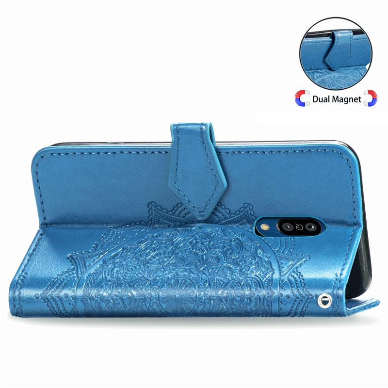 JONSNOW PU Leather Pouch Flip Case for Sharp Aquos Zero2 6.4inch Phone Wallet Case Stand Holder with Rhinstone Datura Stramonium enlarge