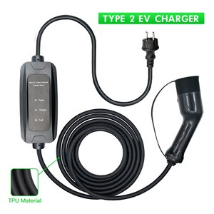 Type 2 EV Charger IEC62196-2  Electric Car Charging Standard 16A or 32A Current Cable With Schuko Plug
