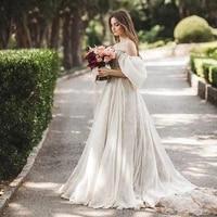 robe de mariee booma new chiffon princess dresses for wedding party 2020 off the shoulder beach bridal dress simple boho