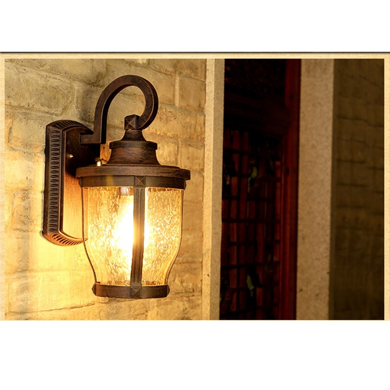 BRIGHT Retro Outdoor Wall Sconces Lights Classical Loft LED Lamp Waterproof IP65 Decorative For Home Porch Villa enlarge