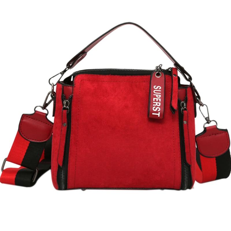 New Leather Shoulder Bag Women Tote Handbag Bucket Crossbody Bag for Women Ladies Bag Messenger Bag Mini Sac Red