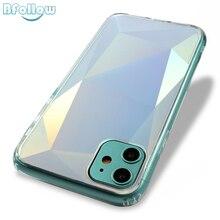 BFOLLOW Diamant 3d spiegel Fall Für iPhone 11 Pro X XS Max XR 7 8 Plus Harte PC Luxus Zurück abdeckung Stoßfest