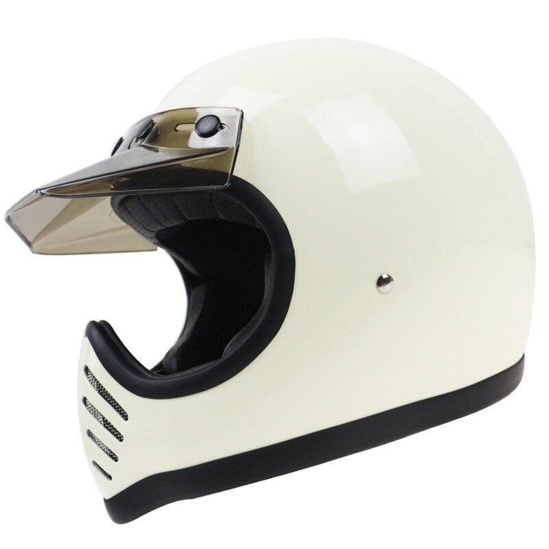 MOTO3 نمط عالية الجودة اليدوية كامل الوجه Motorcycle خوذة دراجة نارية الألياف الزجاجية قذيفة خوذة مقهى Racer خوذة DOT ECE المعتمدة