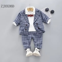 party 6 years outer blue wedding suits for boys formal wear jacket cotton costume kids blazer baby outfits chlidren clothing set
