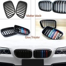 1set Carbon Fiber/Black Front Bumper Racing Grills Kidney Grilles For BMW F07 5 Series GT GT5 530d 535i 550i M Power Accessories
