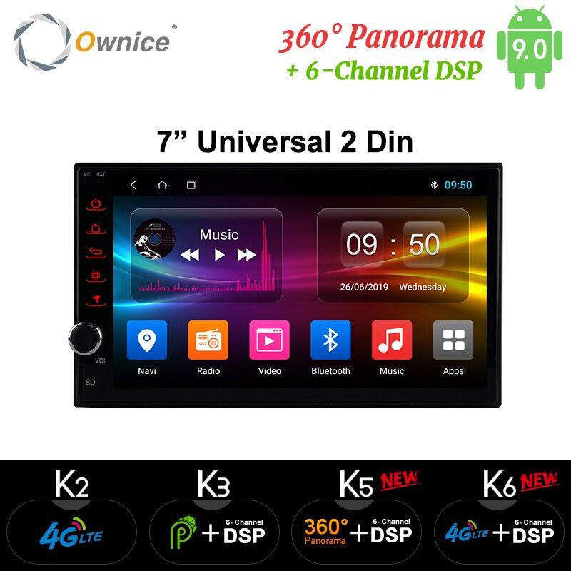 Ownice k1 android 8.1 navegação gps 2g ram dvd 2 din rádio do carro bt usb universal para nissan toyota vw peugeot jogador suporte 4g