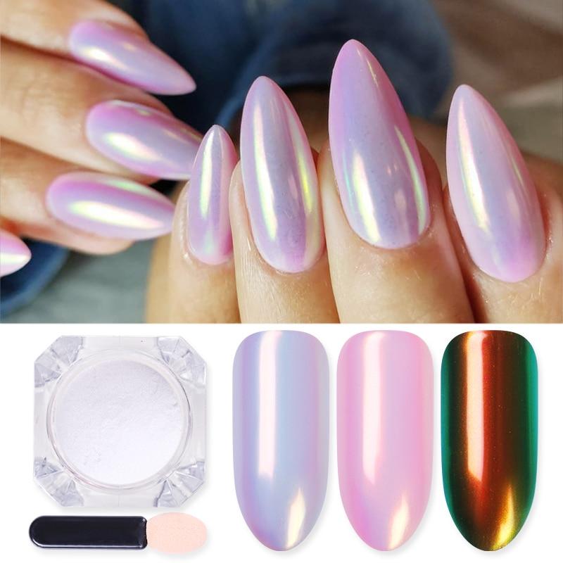 1 Box Mirror Glitter Nail Polish Chrome Pigment Powder DIY Salon  Powder Neon Nail Art Decoration  Decoration