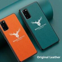 Étui de téléphone portable en cuir pour Samsung S20 S20Ultra S20Plus housse de protection en silicone mince de luxe pour Samsung S10 S10E S9 S8 Plus