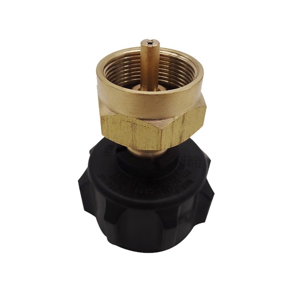 40 ^ cabeza de conversión QCC1 regulador de válvula de repuesto de propano adaptador se adapta a todos los cilindros desechables de 1 LB para cocinar en camping