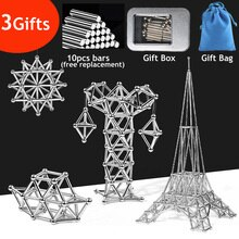 3D DIY Magnetic Building Blocks Magnetic Designer Magnet Sticks & Metal Balls Brain Training Toys For Children Adults Gifts