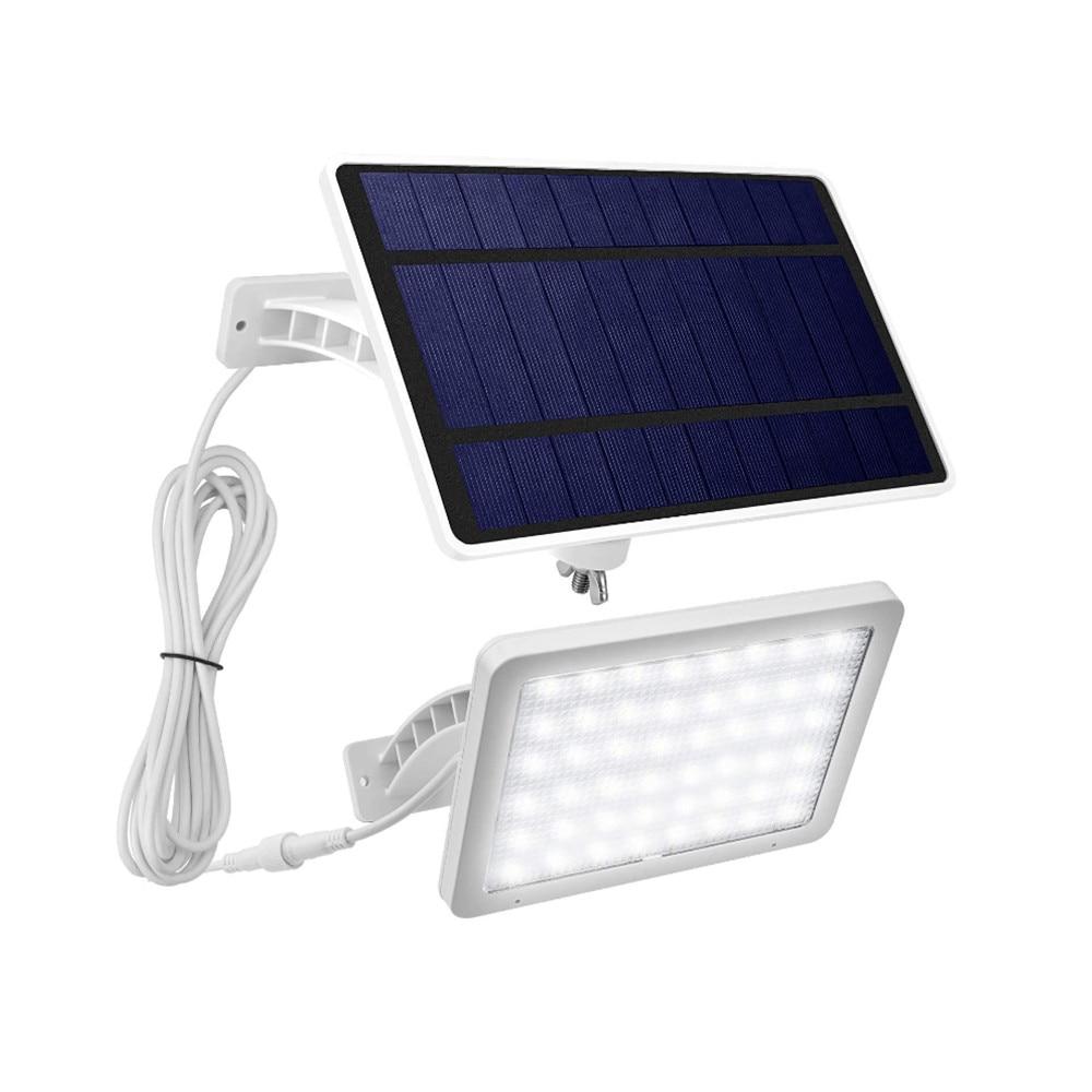 48LED Solar Panel Wall Light Outdoor Light Control Waterproof Split/Integrated 5500mAh For Yard Path Garage Garden Street Lamp