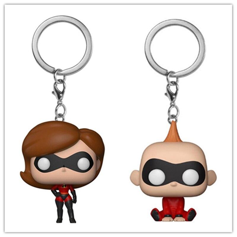 Nuevo llavero de bolsillo Jack-Jack los increíbles 2 Jack Elastigirl personajes figura de acción juguetes de modelos coleccionables con caja