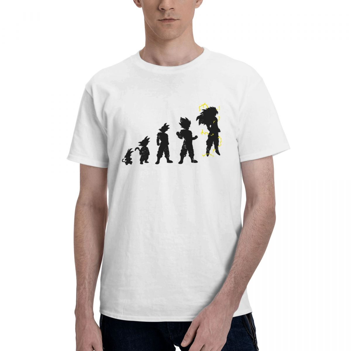 تطور أصلح بانداي لعبة دراغون بول تي شيرت للرجال سايان أنيمي 100% قطن تي شيرت قصير الأكمام تي شيرت الملابس الكلاسيكية