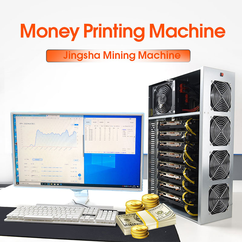 JINGSHA BTC-T37 Riserless Mining Motherboard With CPU 8 GPU Bitcoin Crypto Etherum Mining Motherboard SODIMM DDR3 SATA3.0 VGA