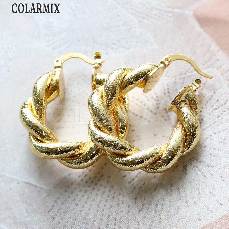 أقراط معصم معدنية للنساء ، 8 أزواج ، لون ذهبي غير لامع ، مجوهرات عصرية للنساء ، جودة عالية ، 51073