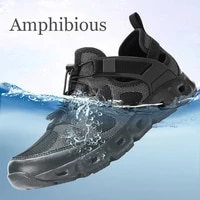 amphibious mens outdoor summer tactical water aqua shoes sneakes for trail hiking trekking shoes sneakers man