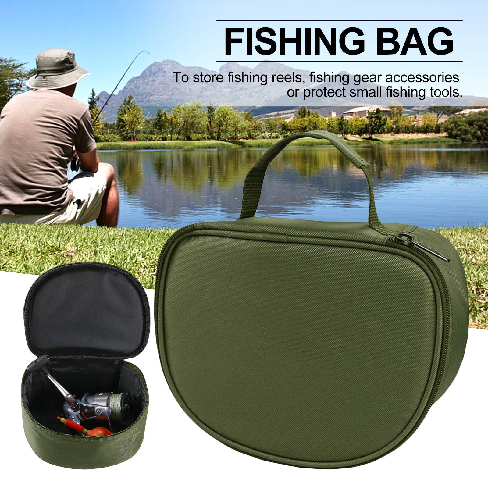 Portable Fishing Bag Fishing Reel Bag Oxford Internal Sponge Protection Fish Tools Bag Used For To Store Fishing Reels Tool