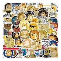 1050pcs dogecoin stickers cool space astronaut doge decal sticker toy for notebook skateboard laptop guitar helmet stationery