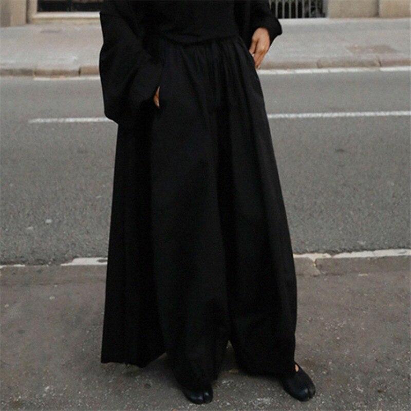 LANMREM LANMREM 2020 new summer fashion women New cotton and linen wide leg pants large size loose high waist pants