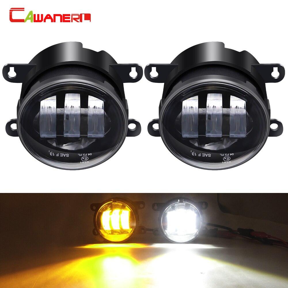 Cawanerl 2 pièces LED antibrouillard 30W 6000LM voiture avant antibrouillard DRL blanc Amper pour Jeep Renegade boussole Cherokee
