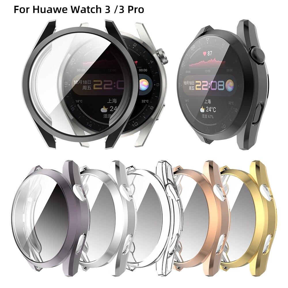 Чехол для часов Huawei Watch 3, чехол для часов, мягкий силиконовый чехол из ТПУ для часов, защитный чехол для Huawei Wacth 3 Pro, чехол-рамка, аксессуары чехол