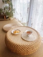 manual rattan weaving coffee table japanese tea table multifunctional table minimalist modern side table living room furniture