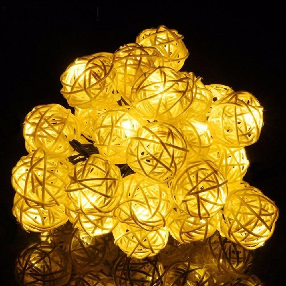 5M USB/Battery Power LED Ball Garland Lights Fairy String Waterproof Outdoor Lamp Christmas Holiday Party Lights Decoration