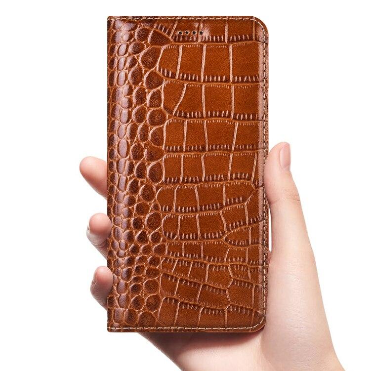 Чехол из натуральной крокодиловой кожи с откидной крышкой для Lenovo Vibe S1 C2 X3 Z5 Z5S Z6 S5 Pro Lite Youth 5G Business, чехлы для мобильных телефонов