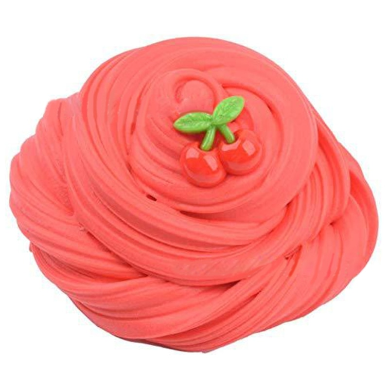 4Pcs Butter Slime with Pineapple Slime Cherry Slime and Cartoon Slime Super Soft and Non-Sticky Birthday Gifts enlarge