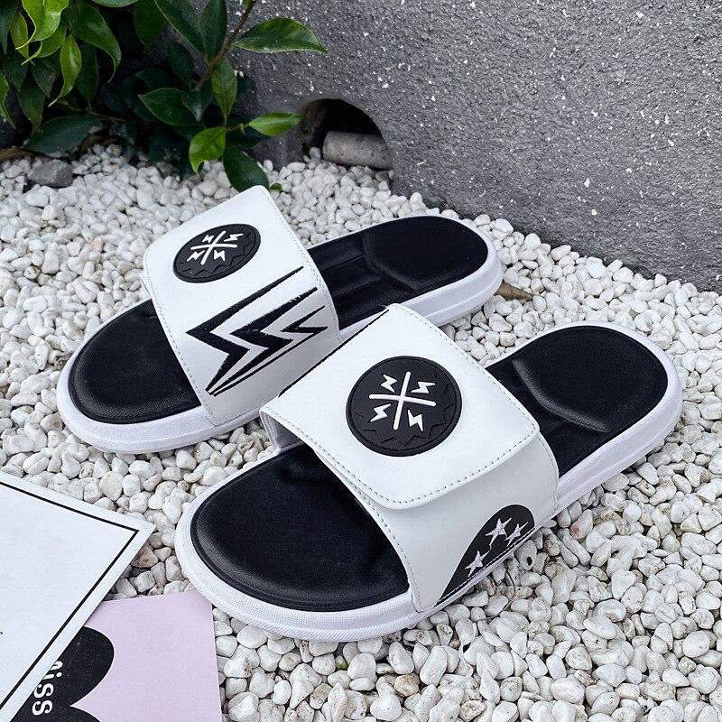 WEH 2020 trend slides for men Summer Flip Flops Slippers Men Outdoor Beach Shoes Classic Men's Sandals Summer Soft Sandals white