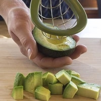 1pc avocado slicer creative plasticstainless steel cutter pulp separator vegetable tools kitchen accessories fruit gadgets