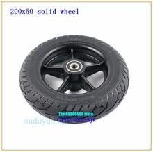 Roues de pneu solides 200X50 pour scooter électrique équilibrant la voiture roues de pneu antidéflagrantes de pneu Non gonflable de 8 pouces