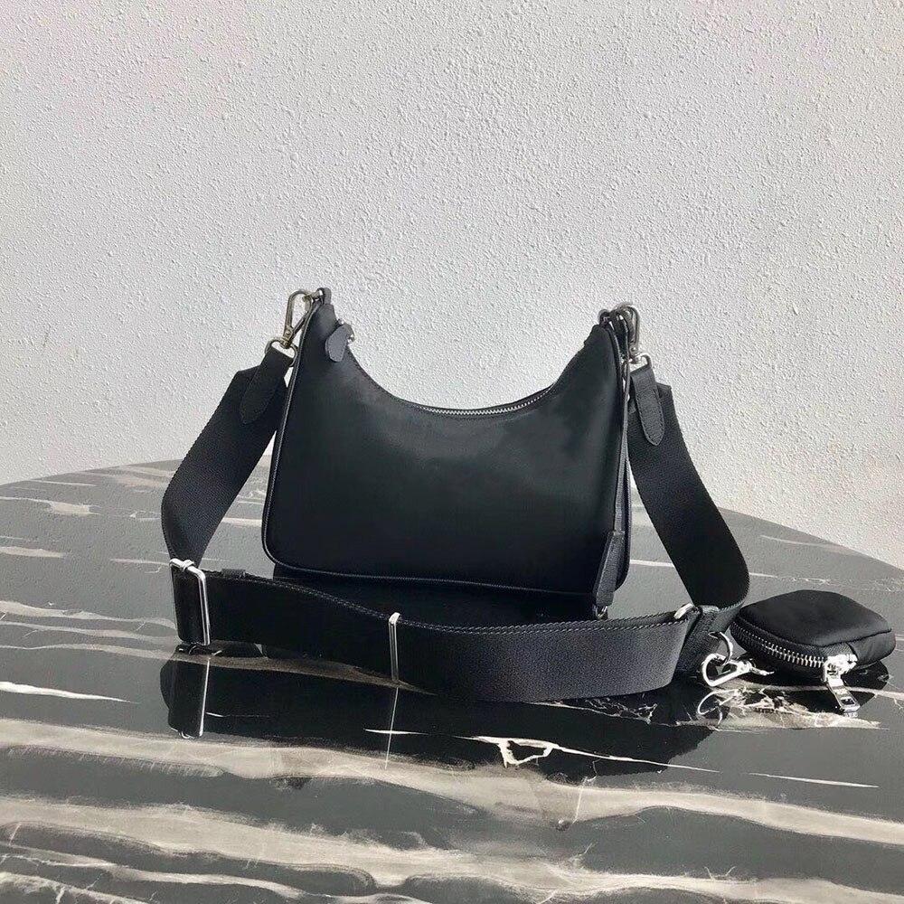 P001-P056, envío gratis, marca de lujo, bolso de lona de nylon, bolso de tres piezas para mujer, bolso de hombro, bandolera, impermeable