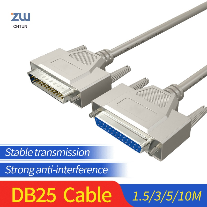 db25 cable connector male male to female for computer printer db 25pin extension parallel converter 1 5m 3m 5m 10m DB25 Cable Connector Male Male to Female For Computer Printer DB 25Pin Extension Parallel Converter 1.5M 3M 5M 10M