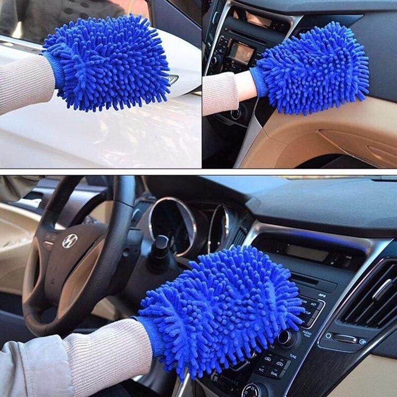 1 шт. инструмент для мойки автомобиля, автомобильные перчатки для сушки, сверхтонкое волокно, синель, моющийся мягкий и толстый инструмент д...