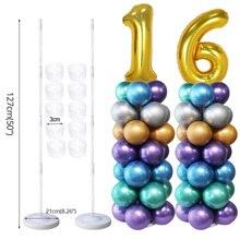 Adulte fête danniversaire ballon colonne support ballon arc support de mariage fête danniversaire Globos décorations enfants Ballons accessoires