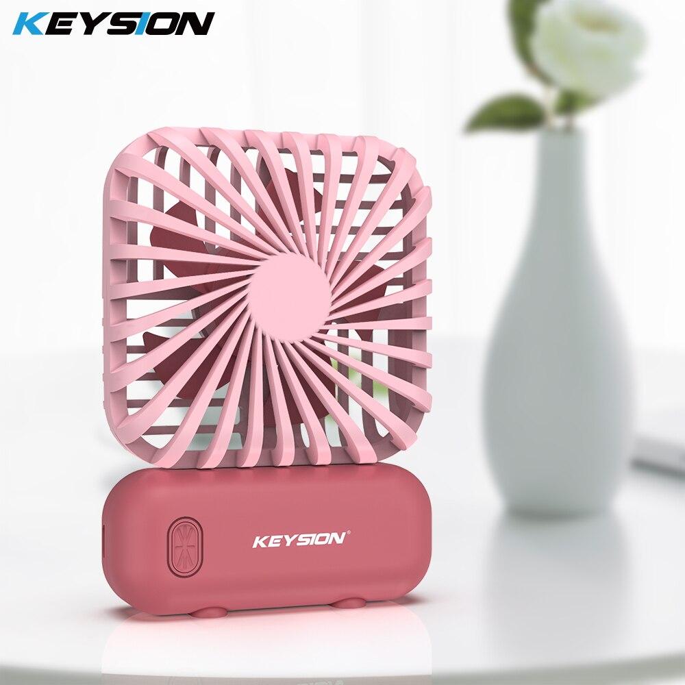 KEYSION miniventilador portátil para móvil, ventilador portátil de mano para exteriores con USB, de 3 velocidades enfriador de aire, ventilador pequeño de escritorio para oficina y hogar recargable