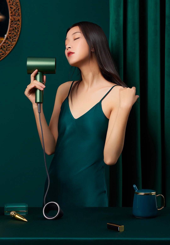 Showsee secador de cabelo natural 55 temperatura