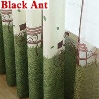 כפרי וילונות חדר ילדים מודפס וואל עץ חלון מודרני סלון טול וילונות Blackout וילונות Sheer בדים X-WP193 #30