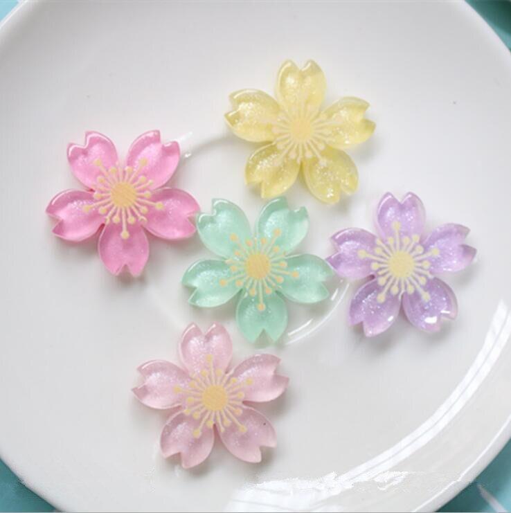 10 unids/lote de flores de resina mezcladas de cabujón Flatback adornos decoración manualidades adornos para álbum de recortes Accesorios