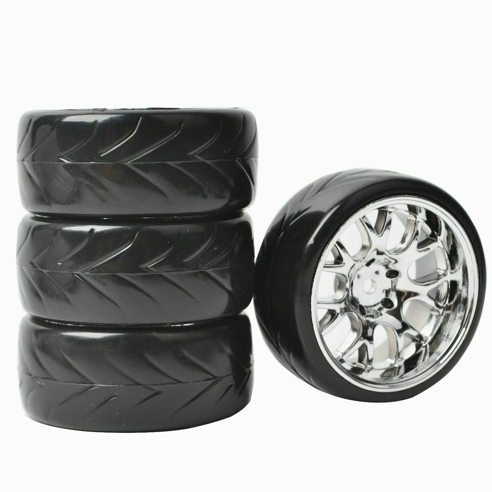 Фото - 4PCS 1/10 RC Drift Racing Tires Wheels 12mm Hex for Tamiya HSP HPI On Road Car Parts 4pcs 1 64 modified wheels rubber tires with axles and end cap upgrade parts for rc model car