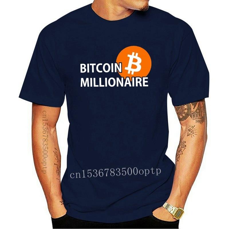 New Bitcoin Millionaire T Shirt Million R B Rse Stock Exchange Krypto Crypto Print T Shirts Men