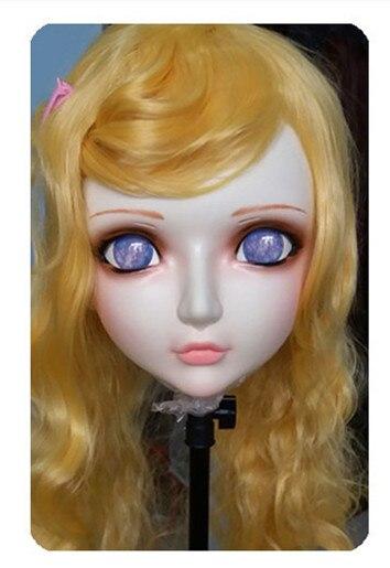 (DM028) Женская/Девичья Милая полимерная полуголовная кигуруми BJD маска косплей японского аниме Реалистичная Лолита маска кроссворд секс кукла