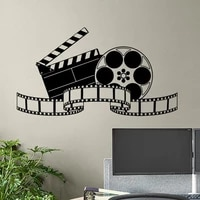 Autocollant mural en vinyle pour Film et bande  affiche  panneau daction  Home cinema  salle de jeux  decor video  Art mural  2218