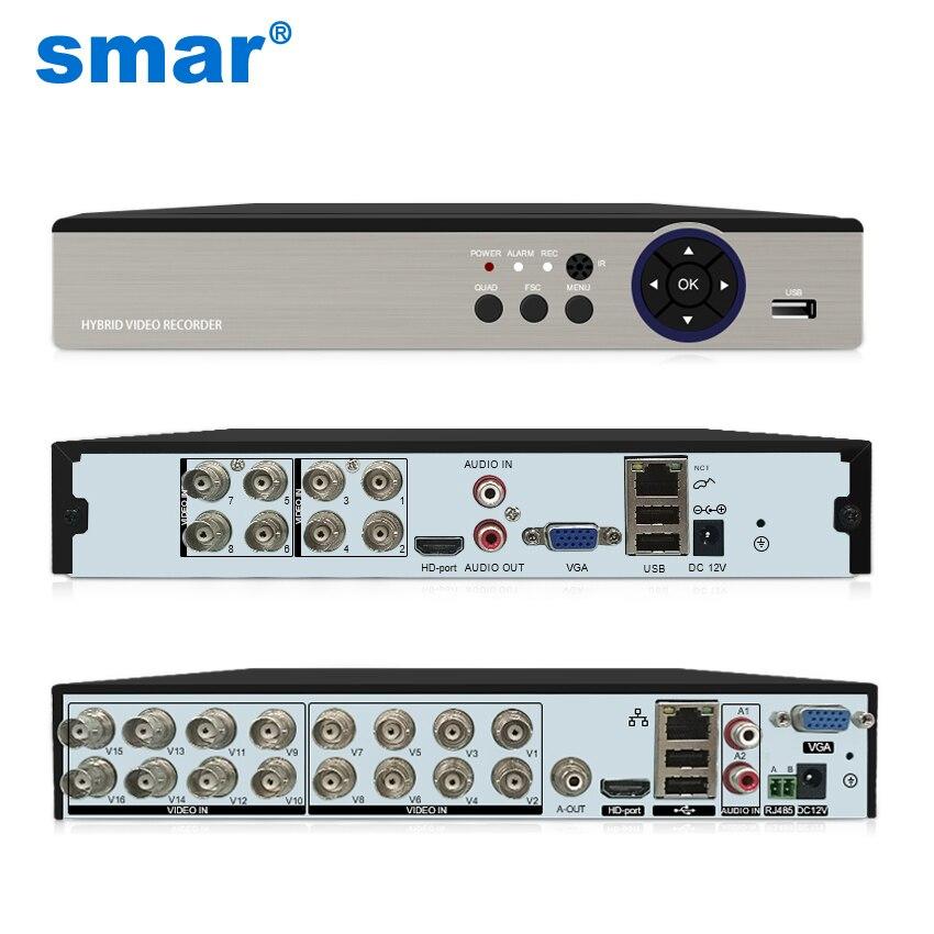 سمر 8CH 16CH 5M-N 5 في 1 الهجين DVR مسجل فيديو ل كاميرا AHD التناظرية كاميرا 5MP IP كاميرا P2P NVR نظام الدائرة التلفزيونية المغلقة H.265 جديد