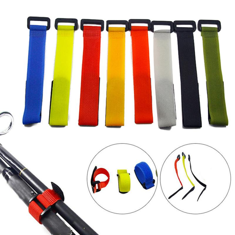 Adjustable Holder Strap Portable Anti-slip Magic Sticker Reusable Wrap Tool Fishing Rod Band Outdoor Nylon Belt Fixing Tie New